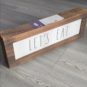 Rae Dunn LET'S EAT Sign